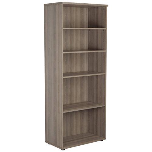 Jemini Grey Oak 2000mm 4 Shelf Bookcase KF840150