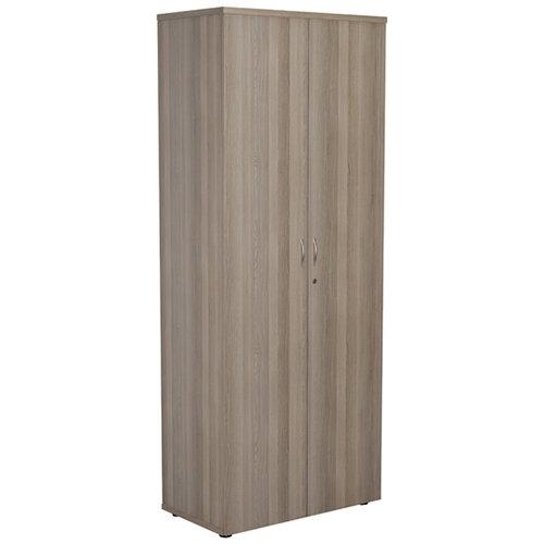 Jemini Grey Oak 2000mm 4 Shelf Cupboard KF840156