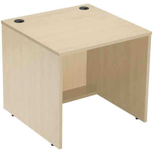 Jemini Modular Reception Desk Straight Base Unit Maple W800xD800xH740mm 800MASAMA