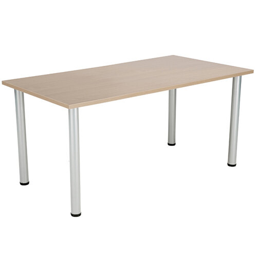Jemini Grey Oak 1600x800mm Rectangular Meeting Table KF840196