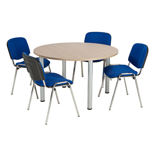 Jemini Grey Oak 1200mm Circular Meeting Table KF840198
