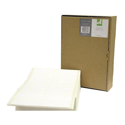 Q-Connect Computer Label 89x36mm 2 Across the Web White Pack of 8000 KF89362