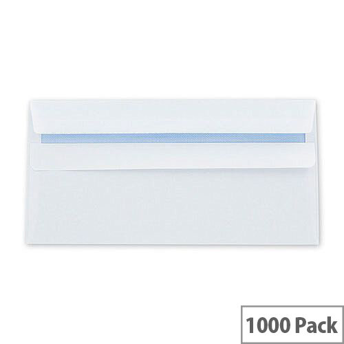 Q-Connect Banker Envelope DL White Self-Seal 120gsm Pack of 1000