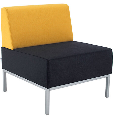 Kraft modular soft seating single bench with back fully upholstered - made to order