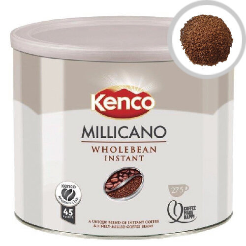 Kenco Millicano Whole Bean Instant Coffee 500g Pack of 1 - Finely milled Arabica coffee beans - Full bodied taste and rich aroma