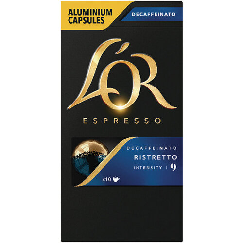L'Or Nespresso Decaff Ristretto Capsule Pack of 10 4028615
