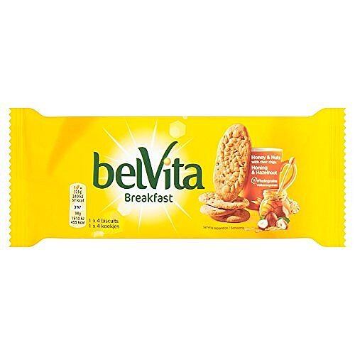 Belvita Breakfast Biscuits - 4 Biscuits x 20 Packs Providing 80 Biscuits - Flavours Of Cereal, Honey & Nuts