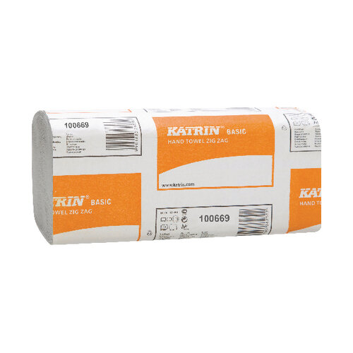 Katrin Basic Zig Zag White Hand Towels Pack of 5000 100669