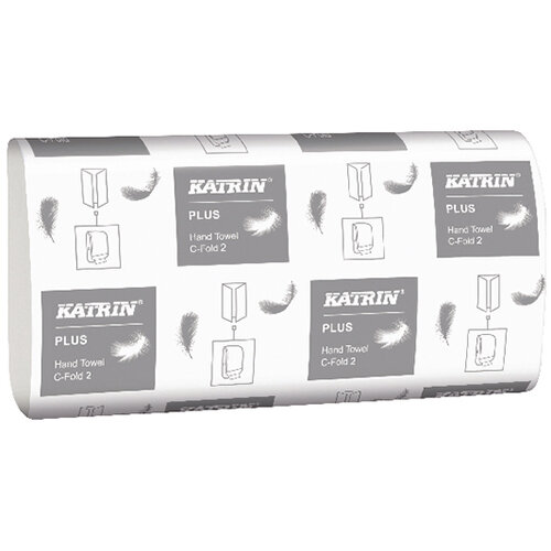 Katrin Plus Hand Towel C Fold 2ply Pack of 24 344388