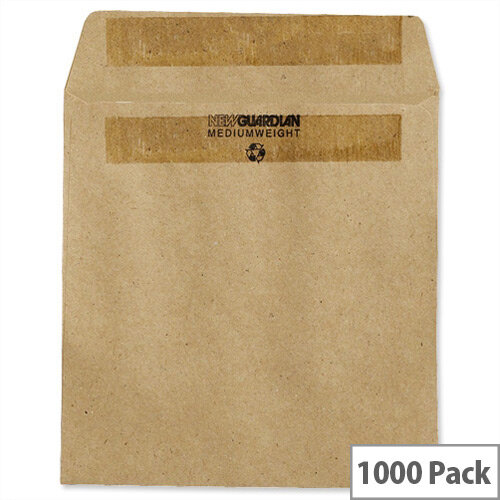 New Guardian Wage Envelopes Press Seal Manilla 108x102mm Pack 1000