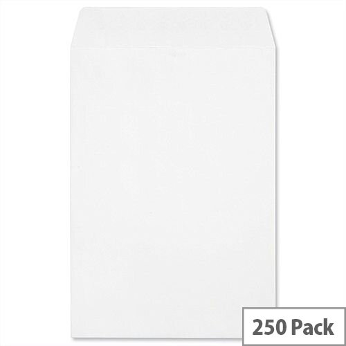 Croxley Script C4 Pocket 120gsm Envelopes White Peal and Seal (Pack of 250)