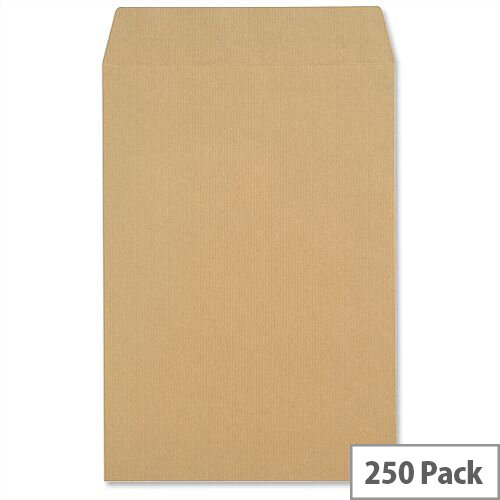New Guardian 130gsm Envelopes C4 Manilla Pocket Press Seal Heavyweight Pack 250 Ref L26303