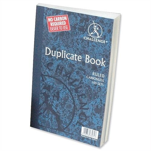 Challenge Duplicate Book Carbonless Ruled 297x195mm Pack 3
