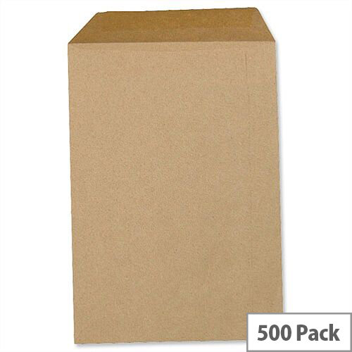 5 Star C4 Manilla 80gsm Envelopes Pocket Gummed Pack 500 Ref L90012