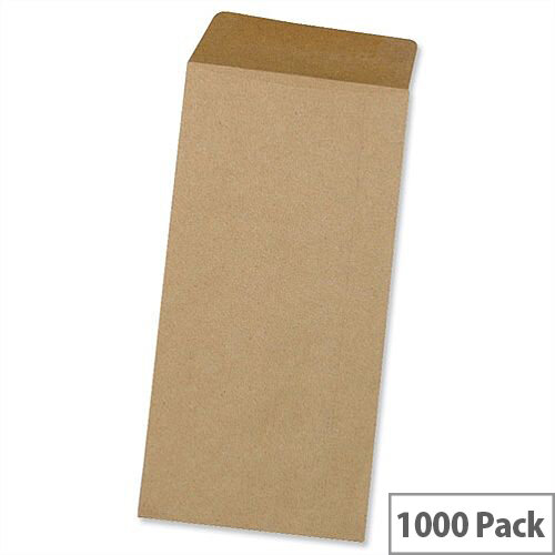 5 Star Office Envelopes Lightweight Pocket Gummed Manilla DL 80gsm Pack of 1000