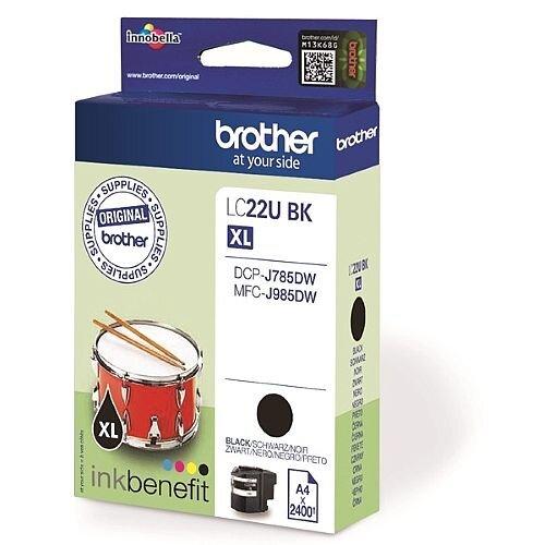 Brother LC22UBK Black Super High Yield Inkjet Cartridge LC-22U