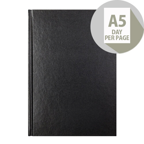 Letts 11X Black A5 Day Per Page Diary 2020 20-T11XBK