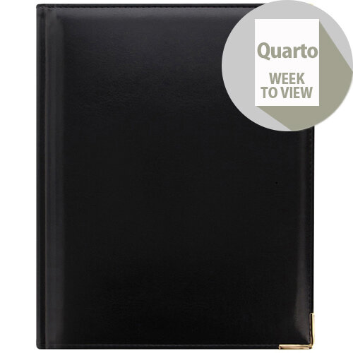 Letts Lexicon Quarto Week to View Appointment Diary Black 2020 20-TL3YBK