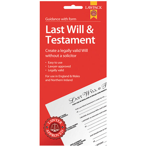 Law Pack Last Will And Testament Pack Pack of 5 F320