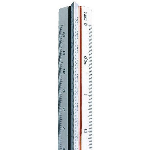 Linex Triangular Scale Rule 500-2500 30cm