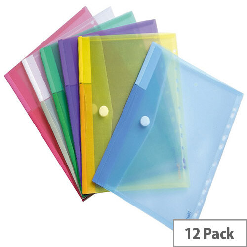 Tarifold A4 Envelope Punched Assorted Pack of 12 TAE510229