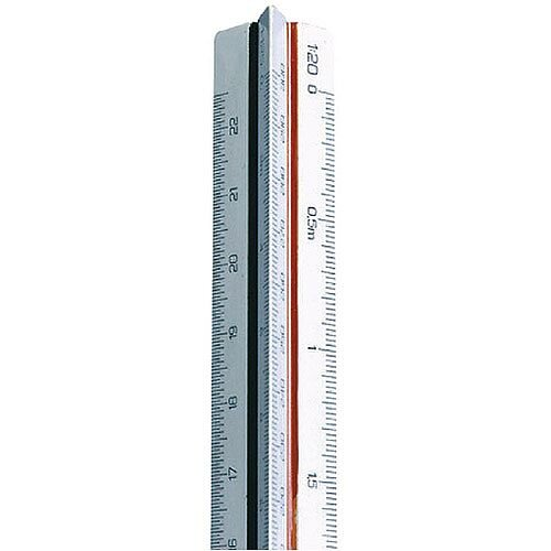 Linex Scale Rule Triangular 100-500 30cm