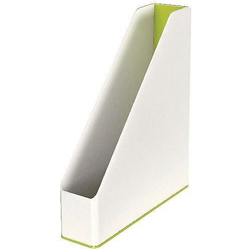 Leitz WOW Magazine File Dual Colour White/Green 53621064