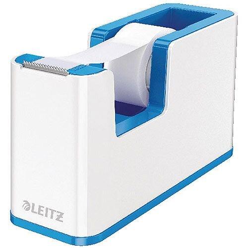 Leitz WOW Tape Dispenser White/Blue 53641036