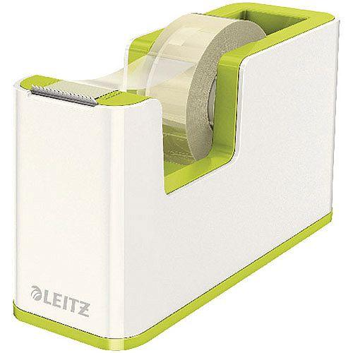 Leitz WOW Tape Dispenser White/Green 53641064