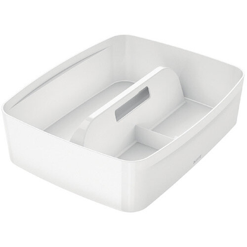 Leitz MyBox Organiser Tray With Handle Large White 53220001