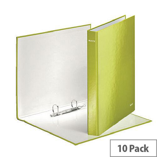 Leitz WOW A4 Plus 25mm 2 D-Ring Binder Green Pack of 10 42410064