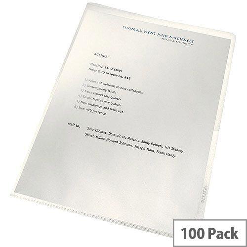 Leitz ReCycle Cut Flush Folders Clear 100pk