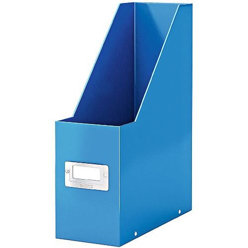 Leitz Click &Store Magazine File Blue (Dimensions: W103 x D253 x H330mm; 103mm spine whitch is laminiated for lasting use; Back and front label holder for easy indexing) 60470036