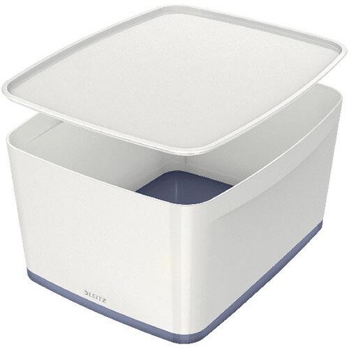 Leitz MyBox Large Storage Box With Lid White/Grey 52161001