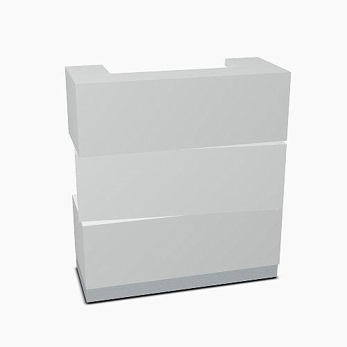 Zen Modern Design Small Reception Desk Aluminum Satinato W1135mm
