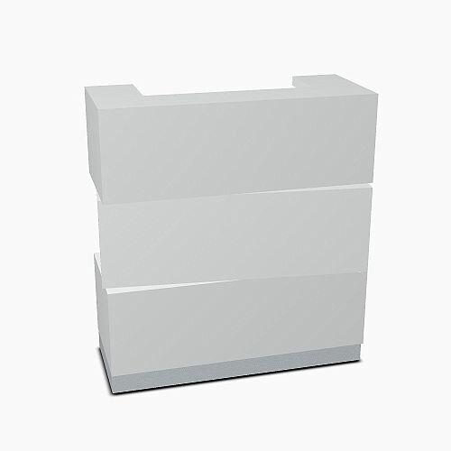 Zen Modern Design Mobile Small Reception Desk Aluminum Satinato W1135mm