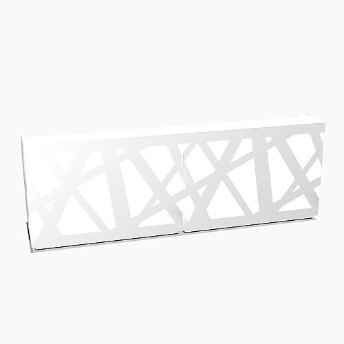 Zig Zag Modern Design Illuminated Solid Surface Straight White Reception Desk W3200mmxD880mmxH1146mm