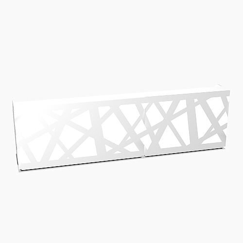Zig Zag Modern Design Illuminated Solid Surface Straight White Reception Desk W3800mmxD880mmxH1146mm