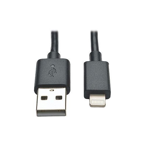Tripp Lite M100-10N-BK Lightning/USB Data Transfer Cable for iPhone iPod iPad 25.40 cm Black