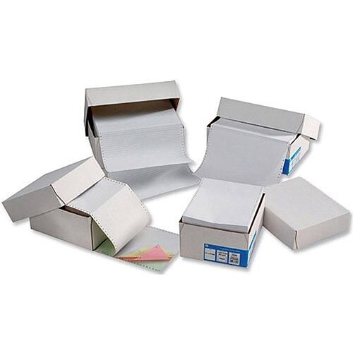 5 Star Office  11inch x 368mm  Computer Listing Paper 1-Part Plain Unperforated Sheets White  1 x Pack of 2000 Sheets