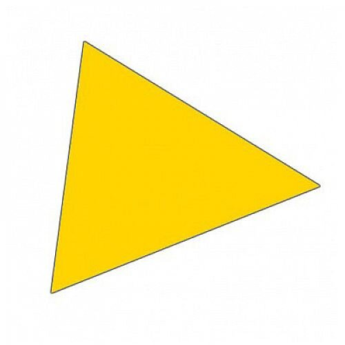 Franken Magnetic Yellow Triangle Symbols Pack of 49 M865 04