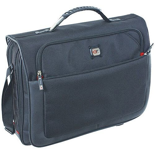 "Gino Ferrari Titan 17"" Laptop Messenger Bag Black"