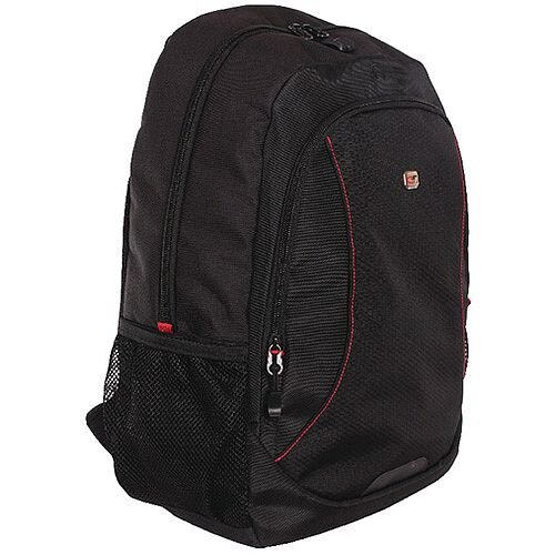 "Gino Ferrari Eros 16"" Laptop Backpack Red Trim GF507"