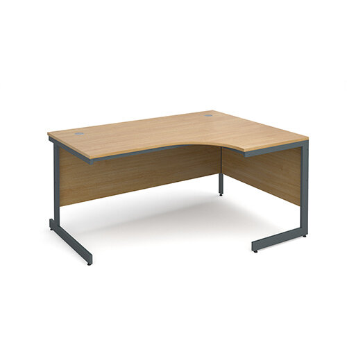Maestro cantilever leg right hand ergonomic desk 1524mm - oak