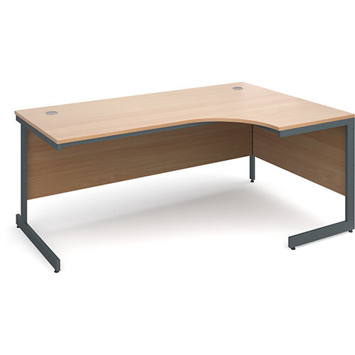 Maestro cantilever leg right hand ergonomic desk 1778mm - beech
