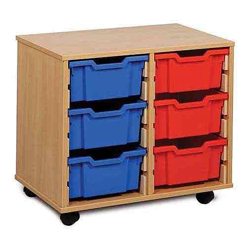 6 Deep Tray Classroom Storage Mobile Unit