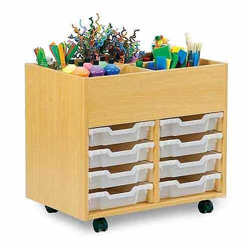 Small Art Storage Unit with top Storage and 8 Trays