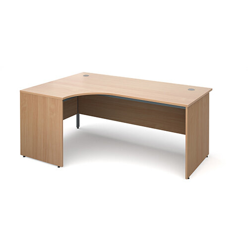 Maestro panel end left hand ergonomic desk 1778mm - beech