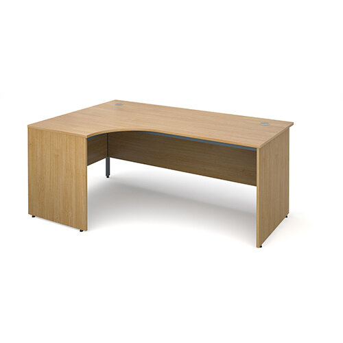 Maestro panel end left hand ergonomic desk 1778mm - oak