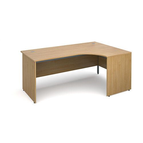 Maestro panel end right hand ergonomic desk 1778mm - oak